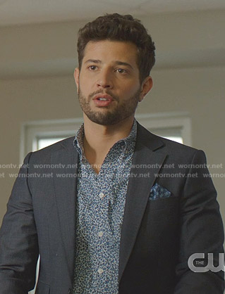 Sam's blue leopard shirt on Dynasty