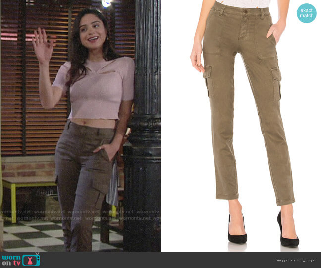 Sanctuary Bootcamp Cargo Pants worn by Lola Rosales (Sasha Calle) on The Young & the Restless
