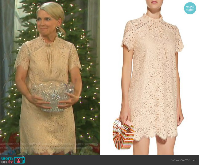 Lace Mini Dress by Sandro worn by Jennifer Horton (Melissa Reeves) on Days of our Lives