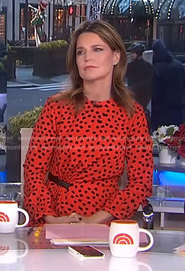 Savannah's orange polka dot dress on Today