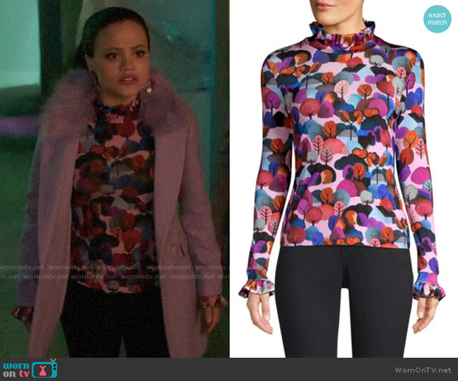 Stine Goya Manila Jersey Top worn by Maggie Vera (Sarah Jeffery) on Charmed