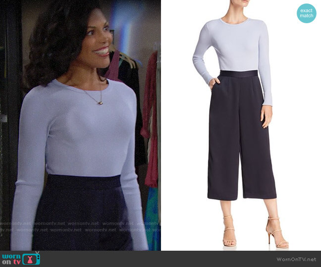 Ted Baker Tianah Jumpsuit worn by Maya Avant (Karla Mosley) on The Bold & the Beautiful
