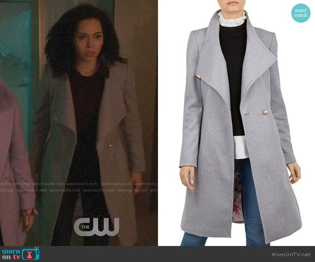 Ted Baker Sandra Coat worn by Madeleine Mantock on Charmed