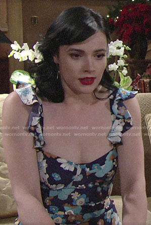 Tessa's floral jumpsuit on The Young and the Restless