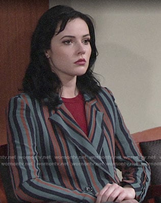 Tessa's striped blazer on The Young and the Restless
