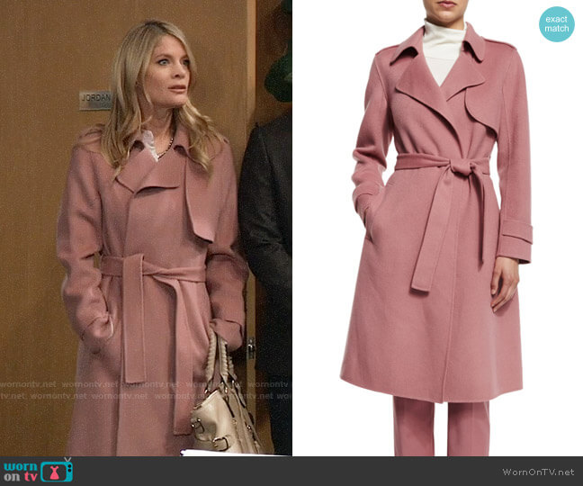 Theory Oaklane Coat worn by Nina Reeves (Michelle Stafford) on General Hospital