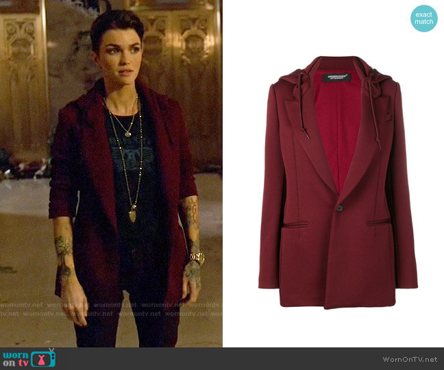 Undercover Hooded Blazer worn by Ruby Rose on Arrow