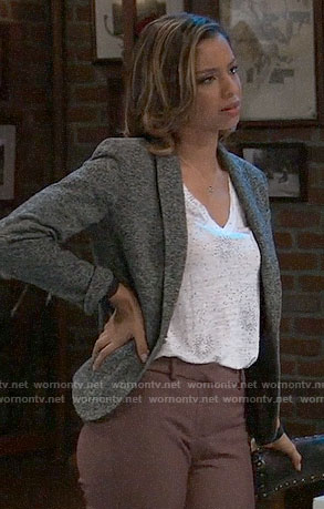 Valerie's star print tee and grey blazer on General Hospital