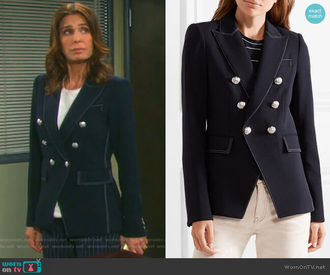 Miller Blazer by Veronica Beard worn by Hope Williams (Kristian Alfonso) on Days of our Lives