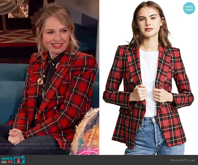 Miller Jacket by Veronica Beard worn by Leslie Grossman on Busy Tonight
