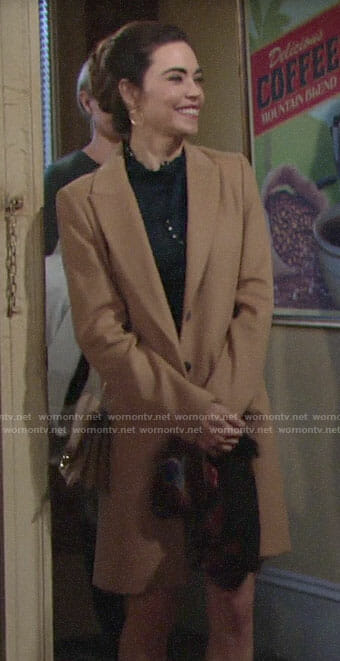 Victoria's camel coat on The Young and the Restless