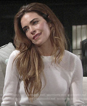 Victoria's white sweater on The Young and the Restless