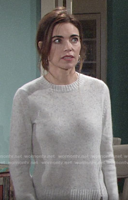 Victoria's speckled side-zip sweater on The Young and the Restless