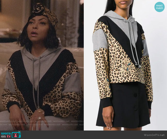 Contrasting Panel Hoodie by Vivetta worn by Cookie Lyon (Taraji P. Henson) on Empire