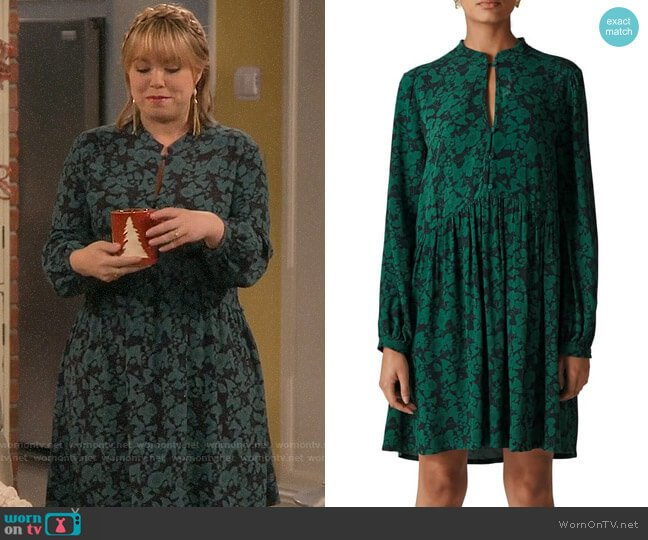 Whistles Deco Floral Dress worn by Kristin Baxter (Amanda Fuller) on Last Man Standing