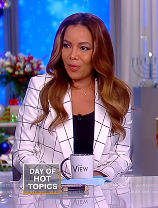 Sunny's white checked blazer on The View
