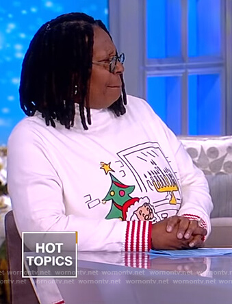 Whoopi's white Christmas sweater on The View