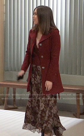 Willow's floral midi skirt on General Hospital