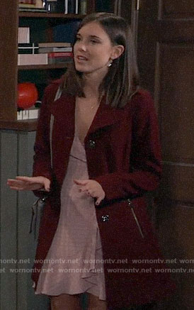 Willow's red coat on General Hospital