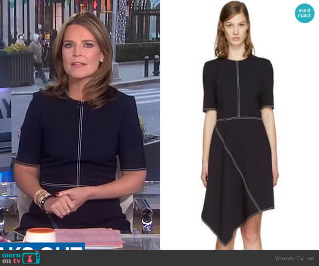 Wool Stitching Dress by Stella McCartney worn by Savannah Guthrie  on Today