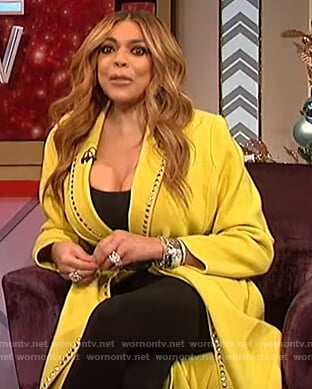 Wendy's yellow studded coat on The Talk
