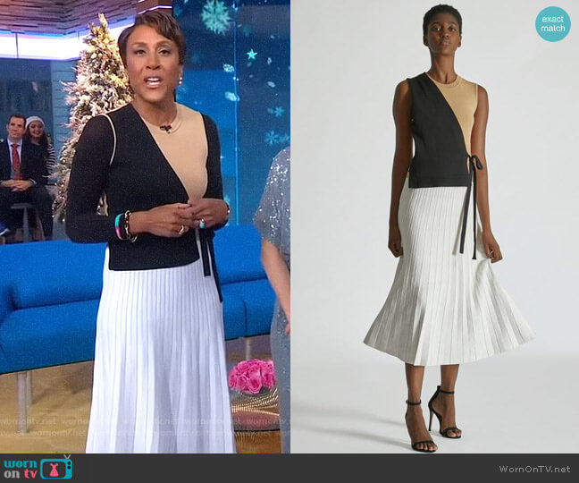 Color Block Wrap Dress by Yigal Azrouel worn by Robin Roberts  on Good Morning America