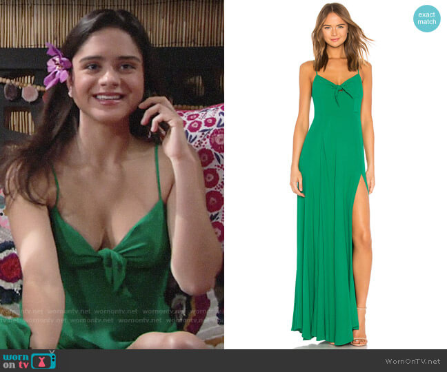 Yumi Kim Watch Me Maxi Dress worn by Lola Rosales (Sasha Calle) on The Young & the Restless