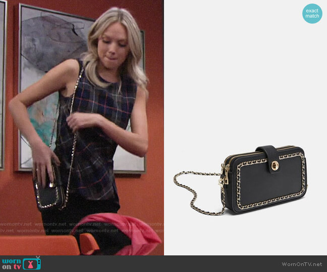 Zara Crossbody Bag with Zips worn by Abby Newman (Melissa Ordway) on The Young & the Restless