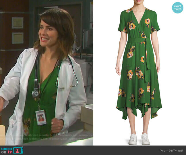 Cora Dress by A.L.C worn by Sarah Horton (Linsey Godfrey) on Days of our Lives