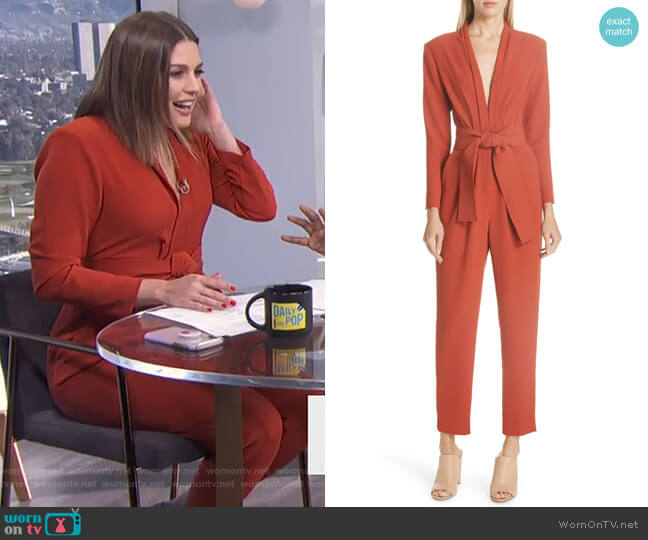 Kieran Jumpsuit by A.L.C. worn by Carissa Loethen Culiner  on E! News