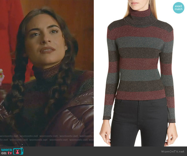 Mariel Sweater by A.L.C. worn by Cristal Jennings (Ana Brenda Contreras) on Dynasty