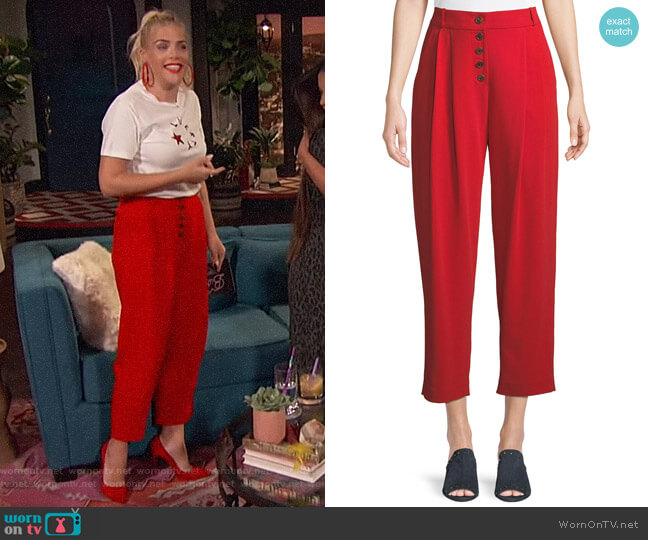 Russel Pants by A.L.C. worn by Busy Philipps  on Busy Tonight