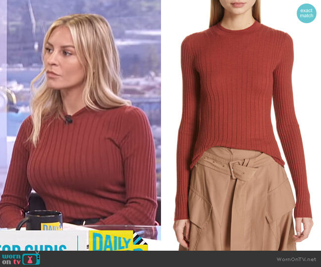 Mixed Rib Stitch Sweater by Vince worn by Morgan Stewart  on E! News