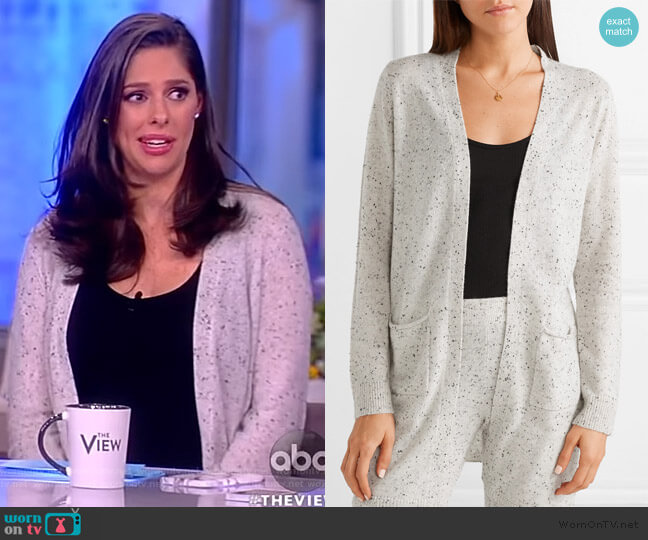 Cashmere Cardigan by Anthony Thomas Melillo worn by Abby Huntsman  on The View