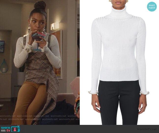 Turtleneck With Crystal Cuffs by Alexander Wang worn by Zoey Johnson (Yara Shahidi) on Grown-ish