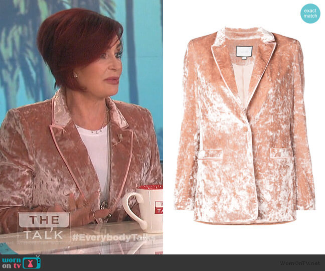 Dallas Velvet Blazer by Alexis worn by Sharon Osbourne  on The Talk