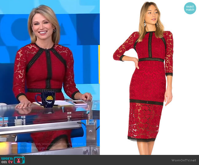 Randie Dress by Alexis worn by Amy Robach (Amy Robach) on Good Morning America