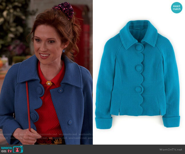 Alice Jacket by Boden worn by Kimmy Schmidt (Ellie Kemper) on Unbreakable Kimmy Schmidt