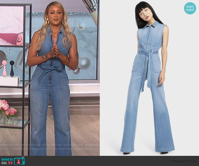 Gorgeous Sexy 70s Sleeveless Jumpsuit by Alice + Olivia worn by Eve (Eve) on The Talk