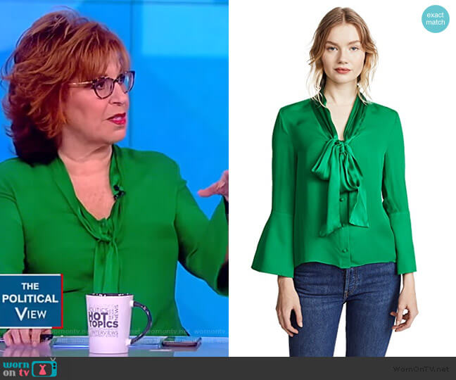 Meredith Blouse by Alice + Olivia worn by Joy Behar  on The View