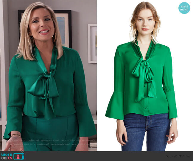 Meredith Blouse by Alice + Olivia worn by Brianna (June Raphael) on Grace & Frankie
