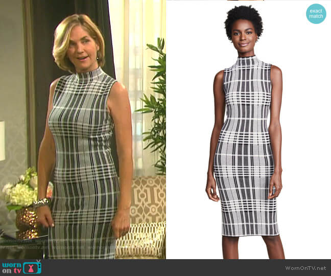 Hana Dress by Alice + Olivia worn by Eve Donovan (Kassie DePaiva) on Days of our Lives
