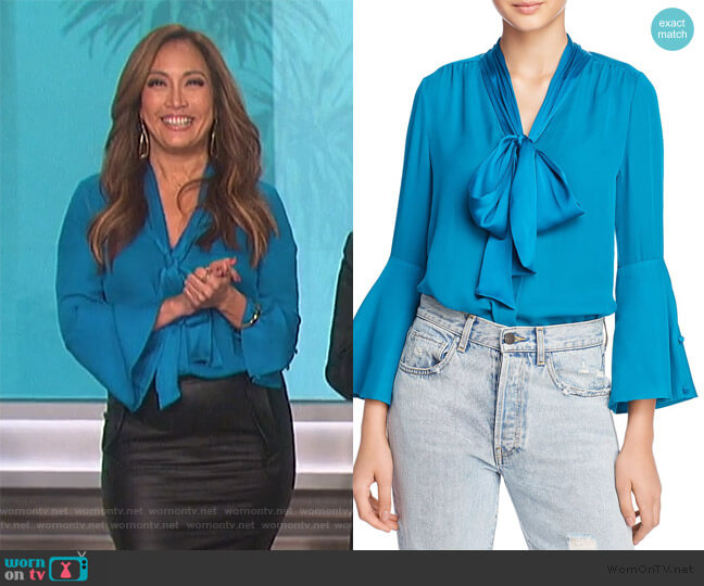 Meredith Blouse by Alice + Olivia worn by Carrie Inaba  on The Talk
