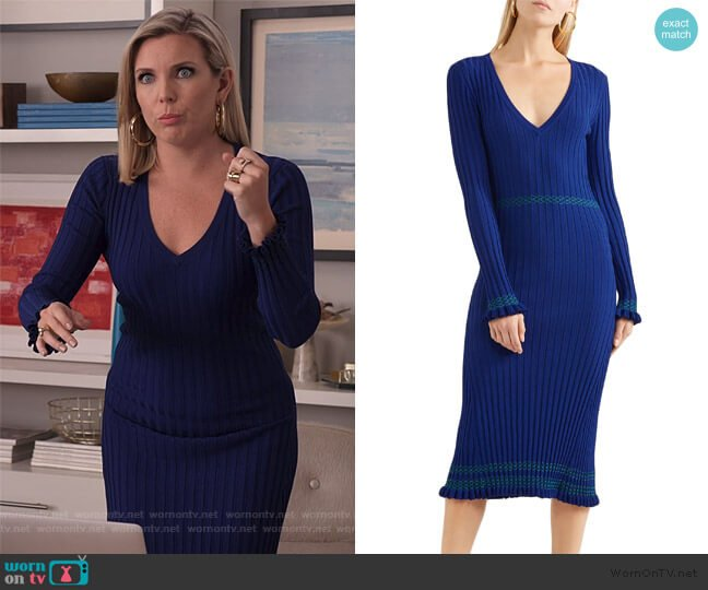 Isolde knit midi dress by Altuzarra worn by Brianna (June Raphael) on Grace & Frankie