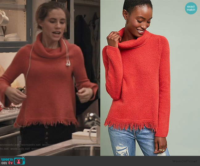 Aruna Turtleneck Sweater by Antropologie worn by Stephanie 'Stevie' McCord (Wallis Currie-Wood) on Madam Secretary