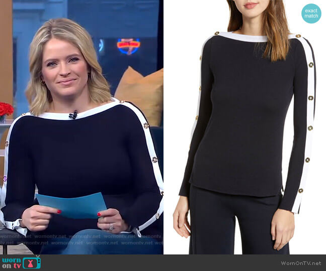 Sailor Sweater by Bailey 44 worn by Sara Haines  on Good Morning America