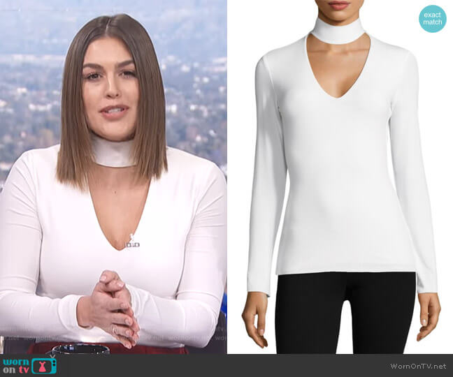 Tokyo Choker Top by Bailey 44 worn by Carissa Loethen Culiner (Carissa Loethen Culiner) on E! News