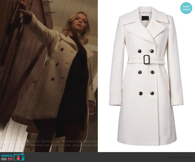 Italian Melton Wool-blend coat by Banana Republic worn by Alison DiLaurentis (Sasha Pieterse) on PLL The Perfectionists
