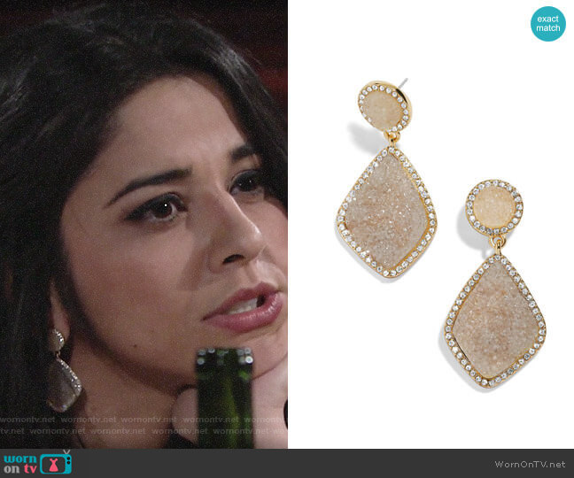 Baublebar Ember Earrings worn by Mia Rosales (Noemi Gonzalez) on The Young & the Restless
