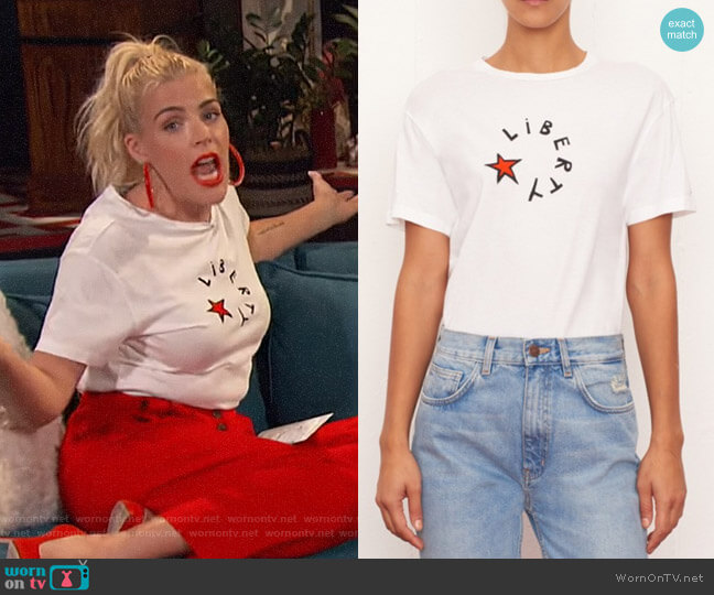 Liberty Star T-shirt by Bella Freud worn by Busy Philipps  on Busy Tonight